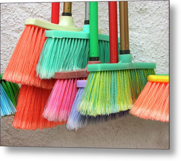 Recycled Plactic Brooms Metal Print