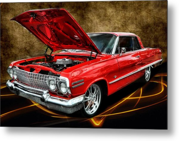 Red '63 Impala Metal Print