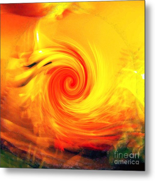 Red Abyss Metal Print