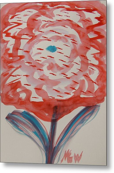 Red And Baby Blue Metal Print