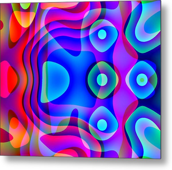 Red And Blue Metal Print by Charles Ragsdale