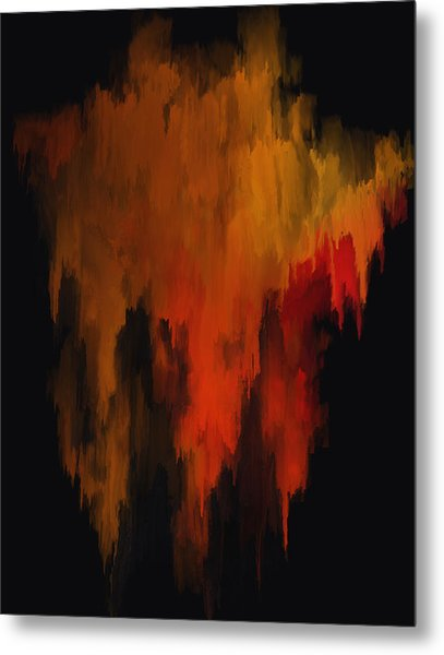 Red And Gold 1 Metal Print