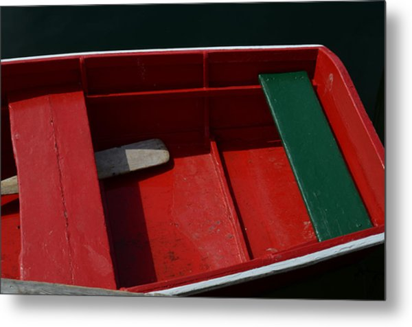 Red And Green Metal Print