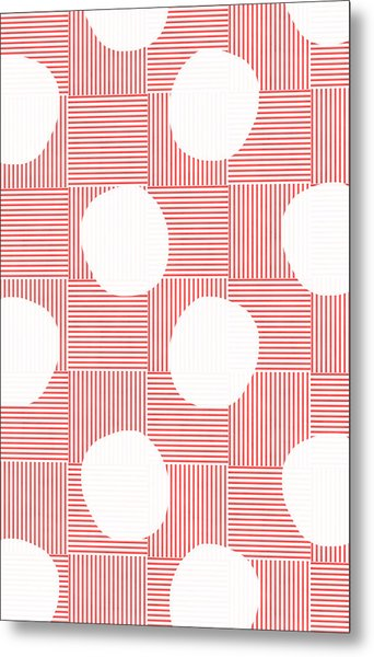 Red And White Poof  Metal Print