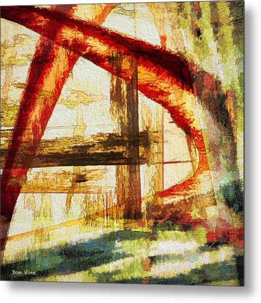 Red Arches Metal Print