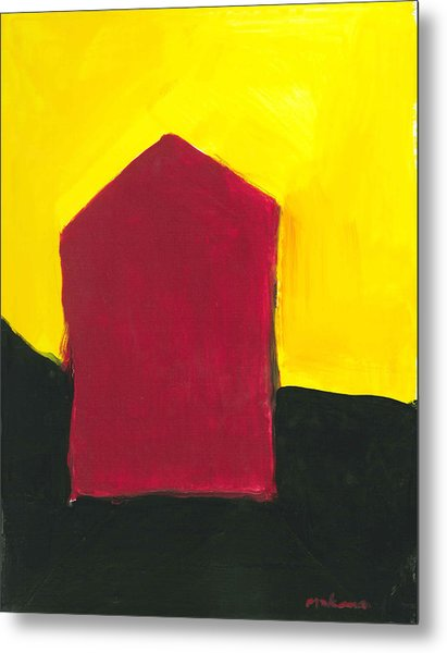Red Arthouse Metal Print