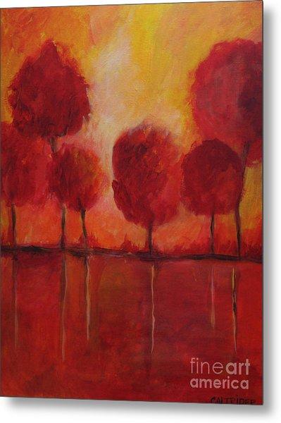 Red Autumn Metal Print