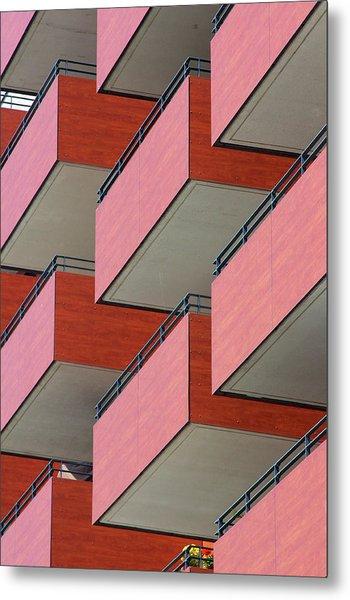 Red Balconies Metal Print by Jannis Werner