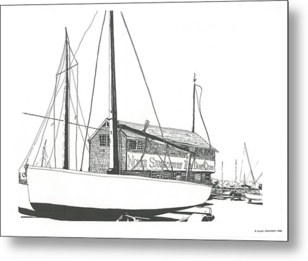 Red Bank Boat Club Metal Print