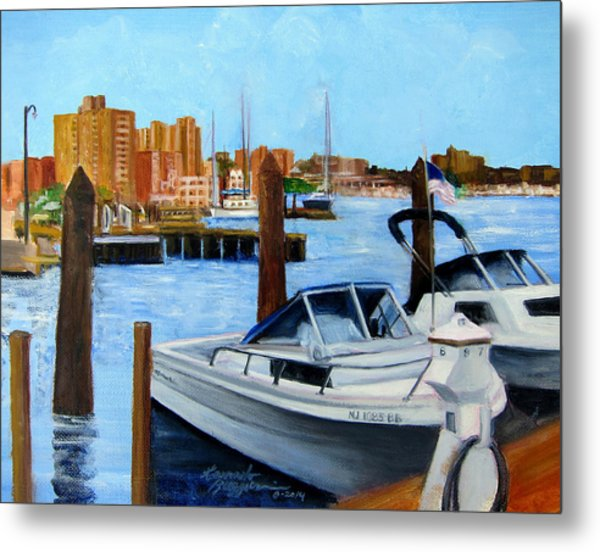 Red Bank Nj From Marine Park Metal Print