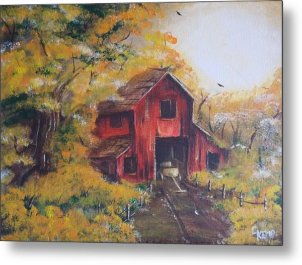 Red Barn 2 Metal Print