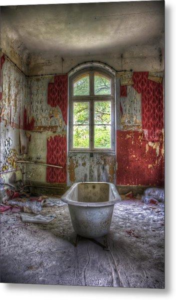 Red Bathroom Metal Print