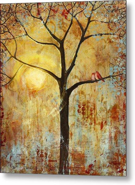 Red Birds Tree Version 2 Metal Print
