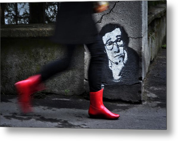 Red Boots Metal Print