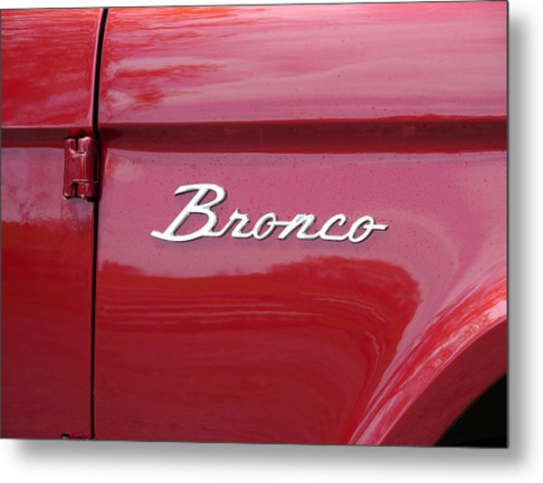 Red Bronco I Metal Print