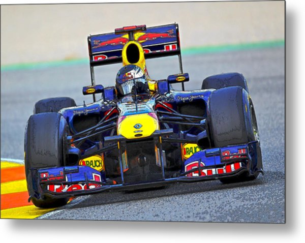 Red Bull Formula 1 Racing Metal Print