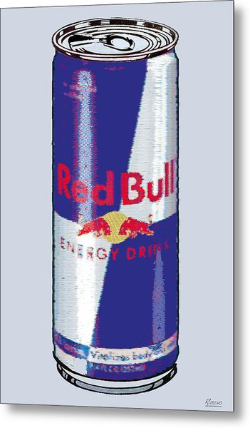 Red Bull Ode To Andy Warhol Metal Print