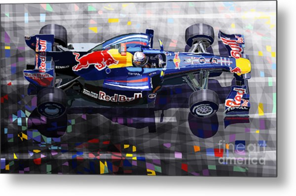 Red Bull Rb6 Vettel 2010 Metal Print