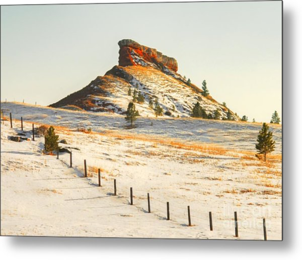 Red Butte Metal Print