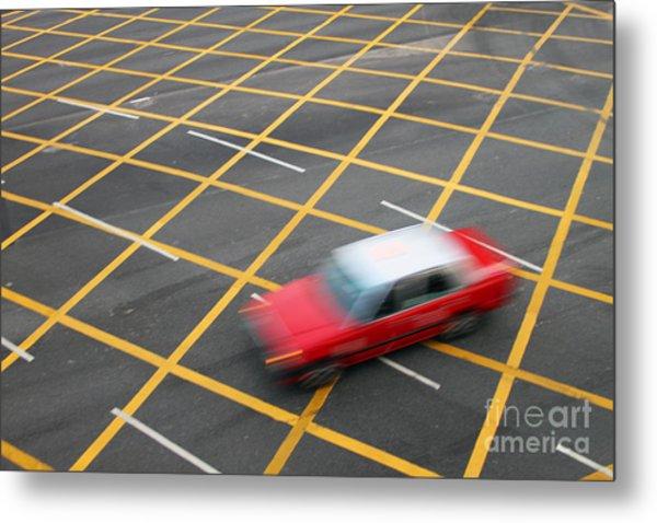 Red Cab In Hong Kong Metal Print