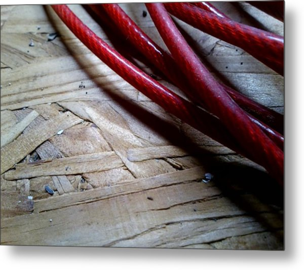 Red Cable Metal Print by Jaime Neo