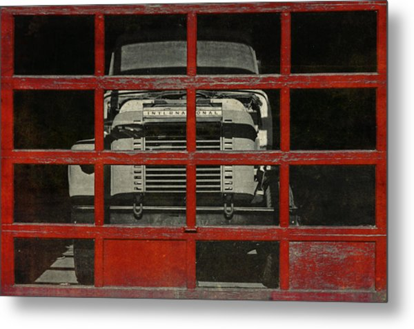 Red Cage Metal Print