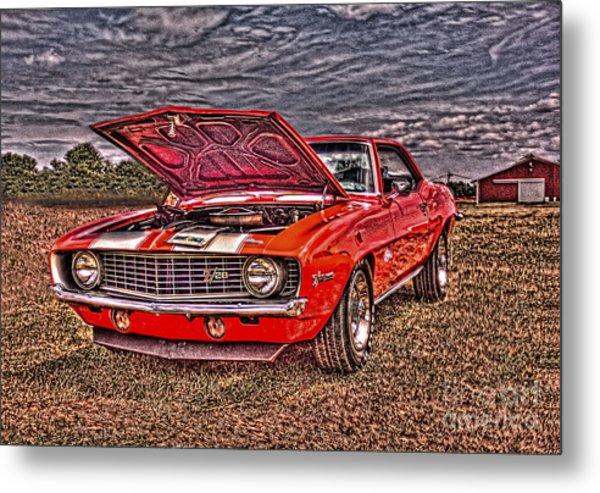 Red Camaro Metal Print