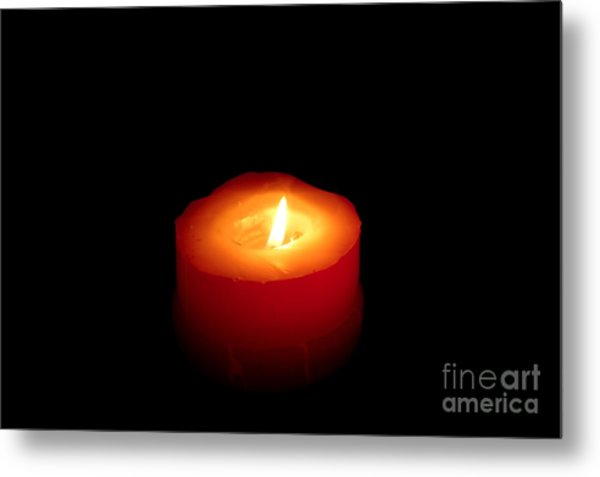 Red Candle Metal Print by William Voon