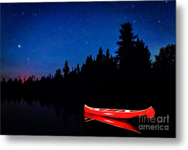 Red Canoe I Metal Print