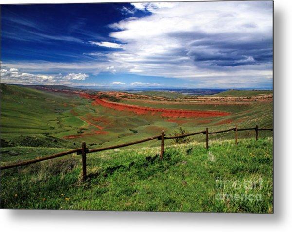 Red Canyon Wyoming Metal Print