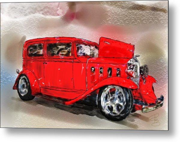 Red Car Metal Print