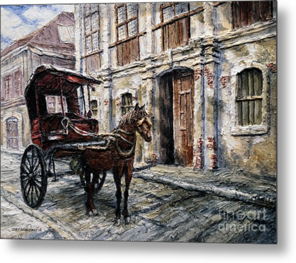 Red Carriage Metal Print