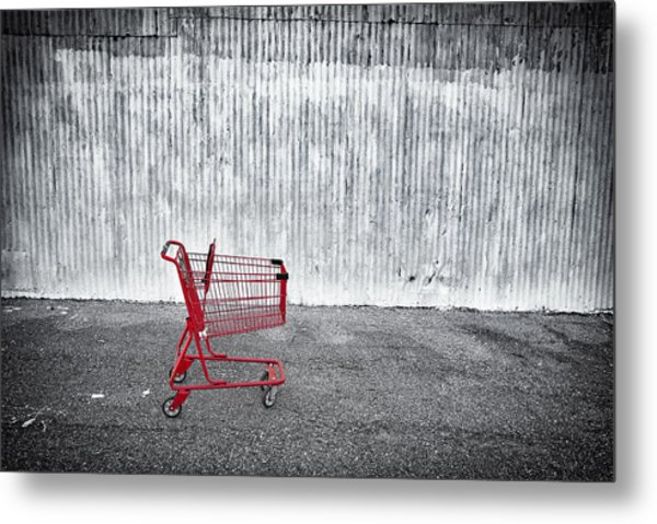 Red Cart Metal Print