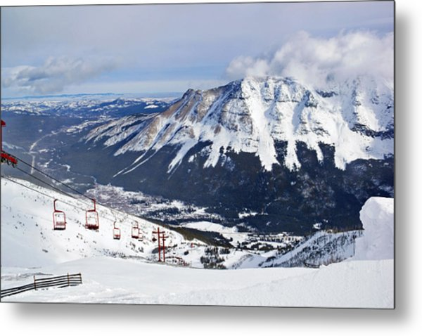 Red Chair Views Metal Print