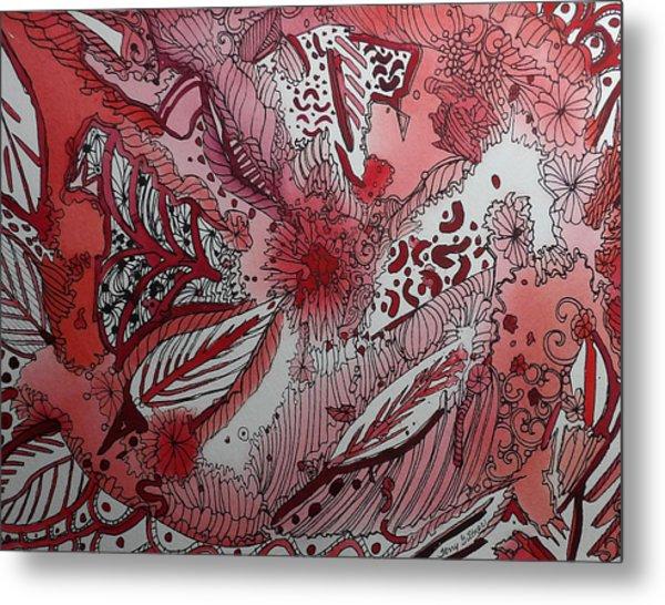Red Chakra Metal Print