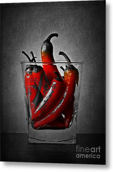 Red Chili Peppers Metal Print