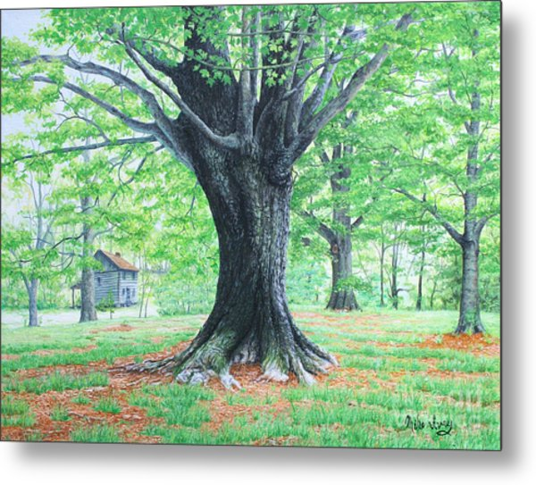 Metal Print featuring the painting Red Clay Tennessee by Mike Ivey