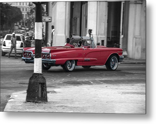 Red Convertible Metal Print