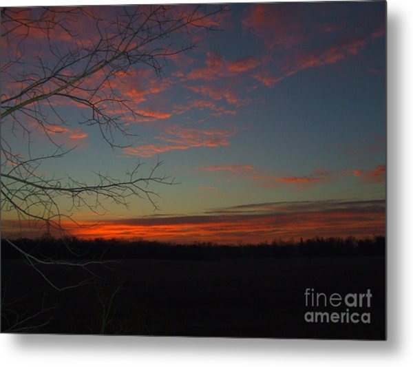 Red Dawn Lv Metal Print