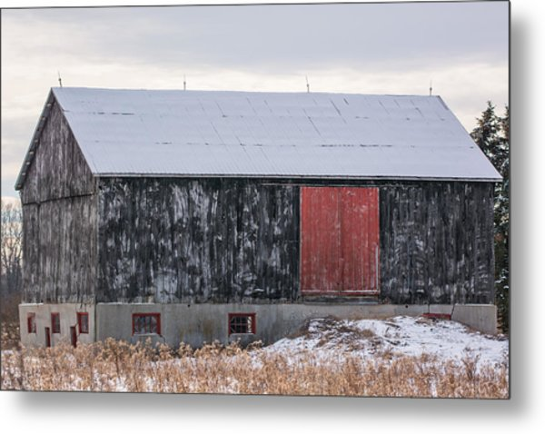 Red Door Barn Metal Print