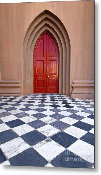 Red Door - D001859 Metal Print