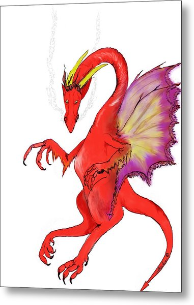 Red Dragon Metal Print