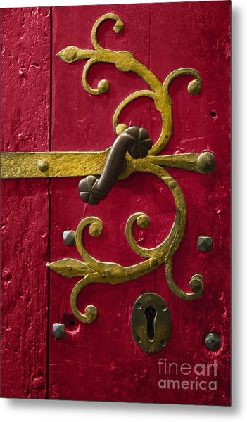 Red Entrance Metal Print