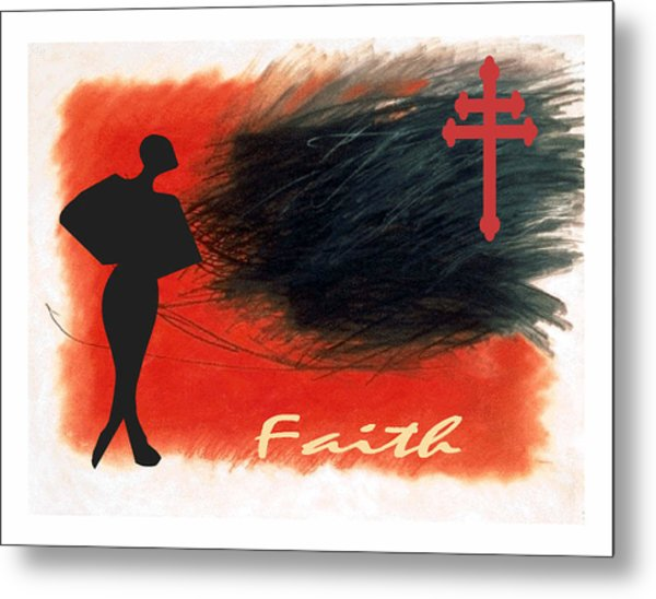 Red Faith Metal Print by Lynn Darnelle