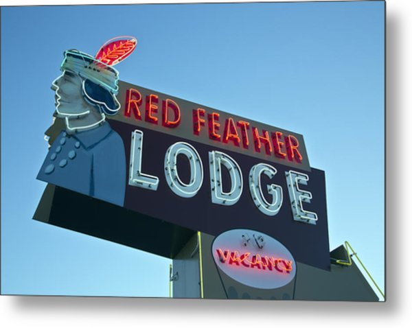 Red Feather Lodge Metal Print