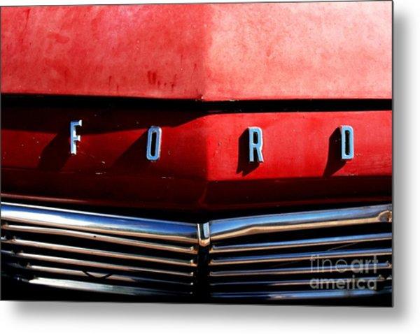 Red Ford 1 Metal Print by Kathlene Pizzoferrato