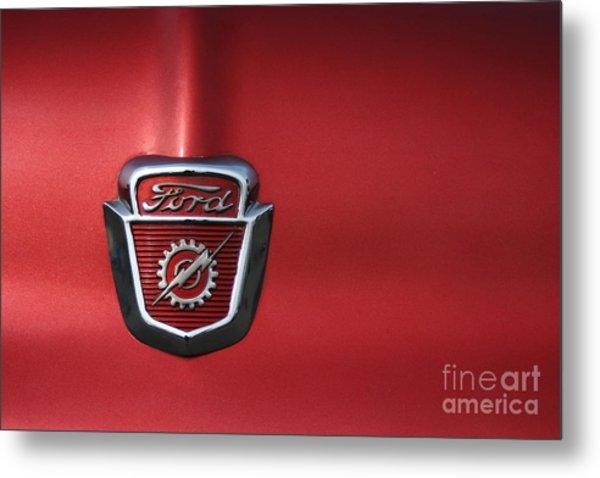 Red Ford 2 Metal Print by Kathlene Pizzoferrato