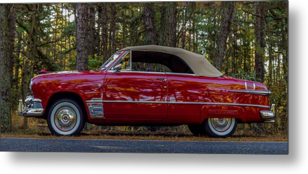 Red Ford Metal Print by Capt Gerry Hare