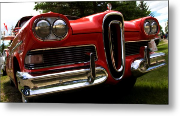 Red Ford Edsel Metal Print