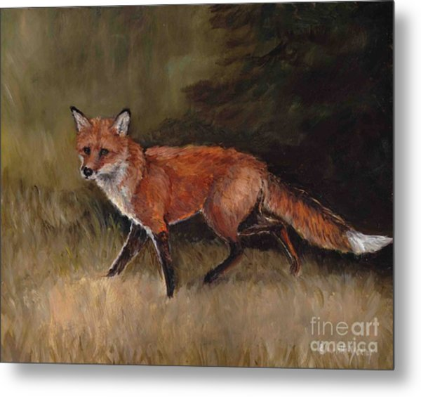 Red Fox Metal Print by Charlotte Yealey